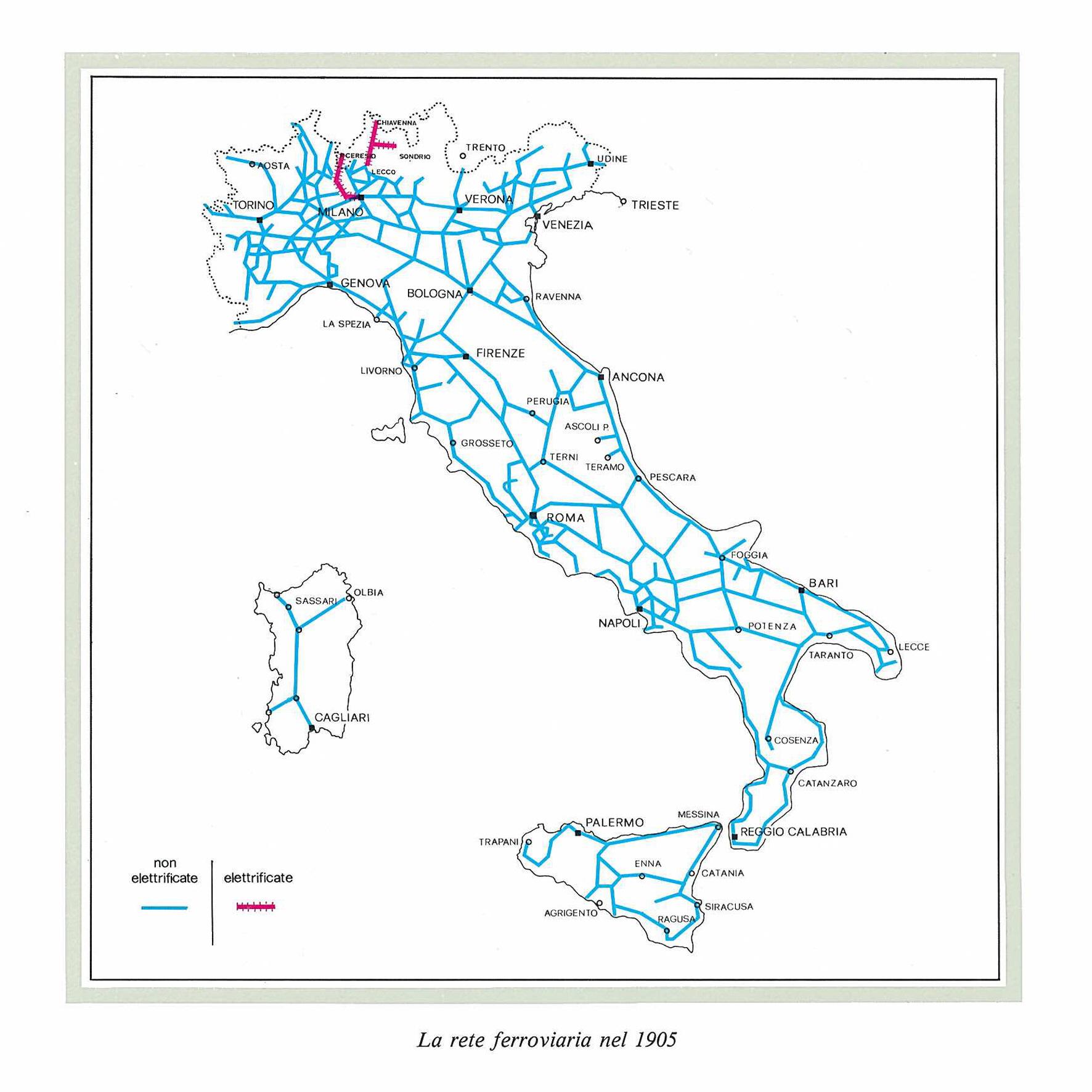 Cartina Ferroviaria Sicilia.Breve Storia Delle Ferrovie In Italia